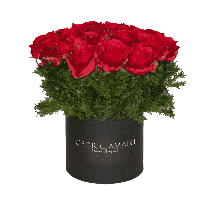 Fresh Red Roses in a box