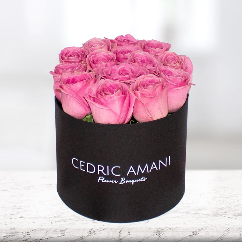 Pink Roses in a Box